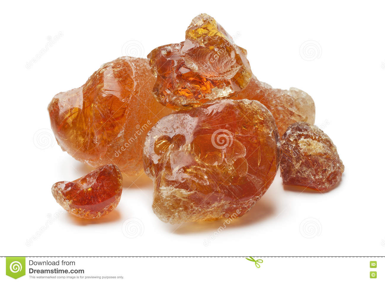 Pieces of Gum arabic