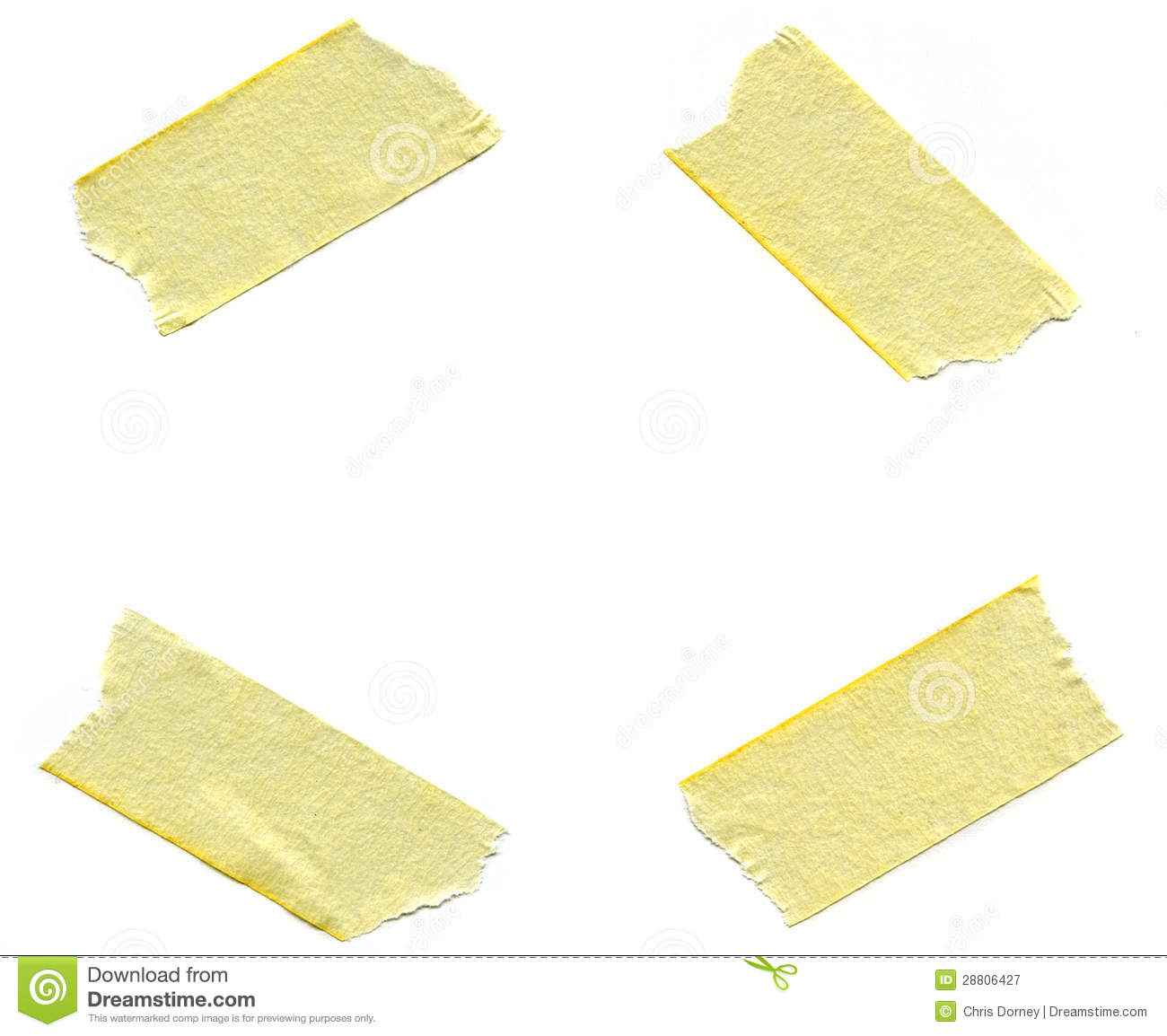 Pieces Of Masking Tape Royalty Free Stock Photography