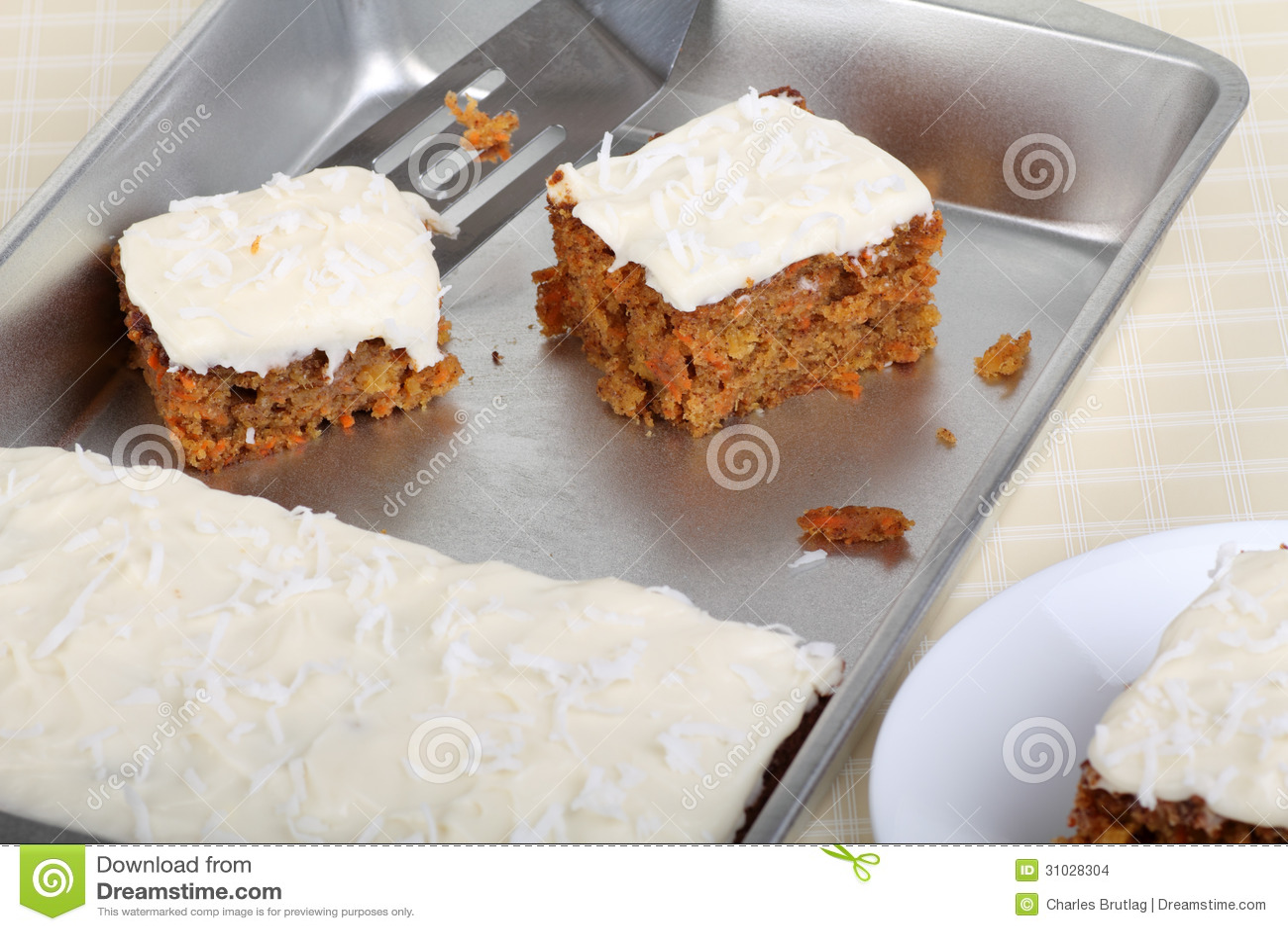 Pieces od Carrot Cake