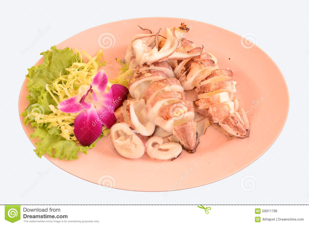 Pieces of palatable baked squid
