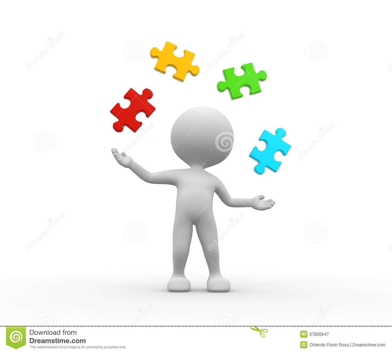 Pieces Of Puzzle Royalty Free Stock Photography Image