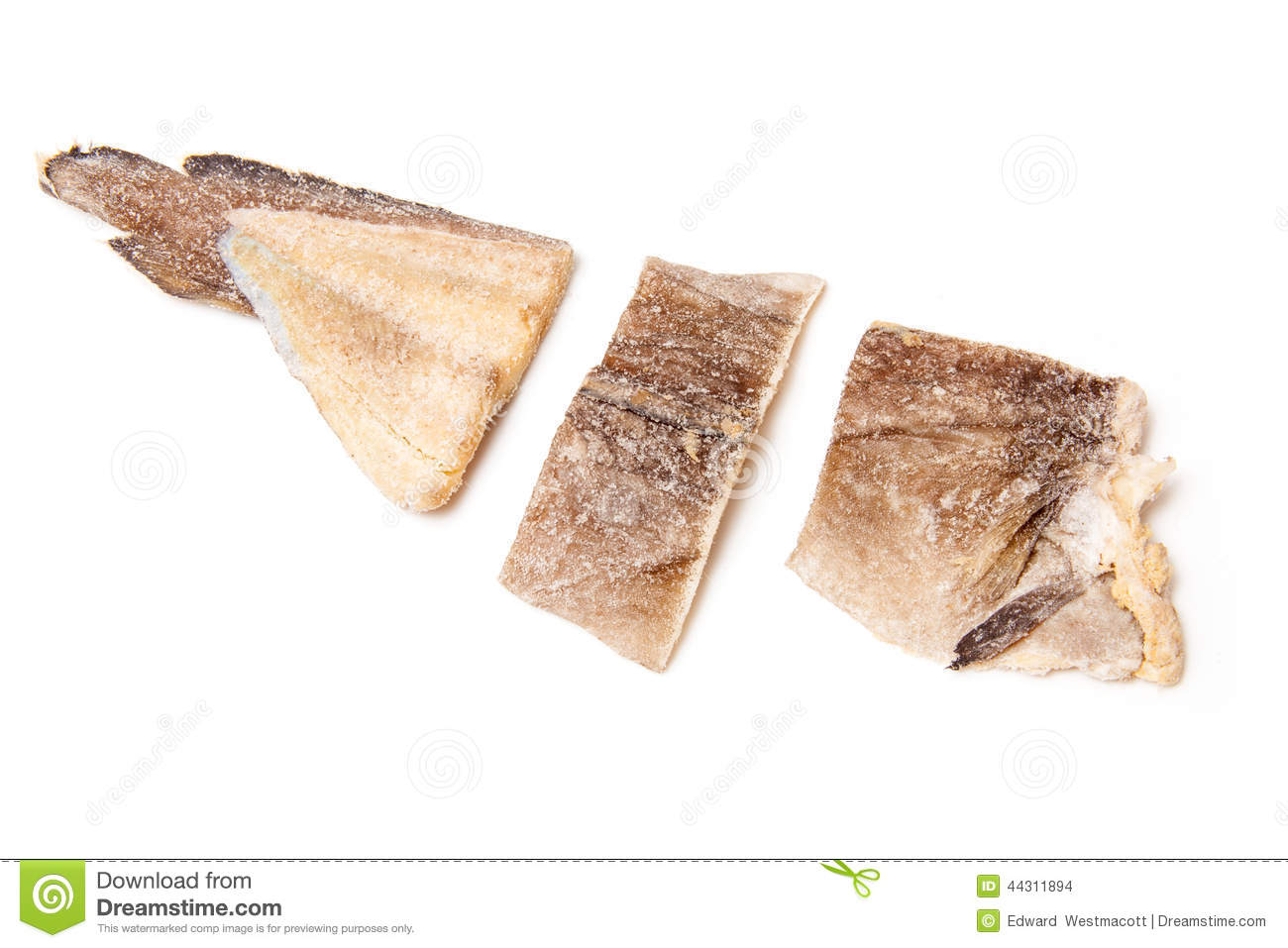 Pieces of salt cod fish stock photo image 44311894 for Piece of fish