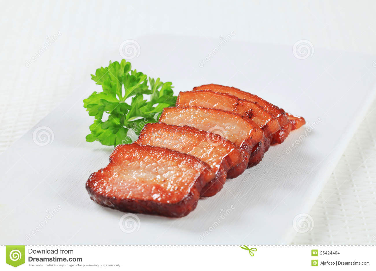... salt fried pork pork belly with leeks and chili bean sauce or salt