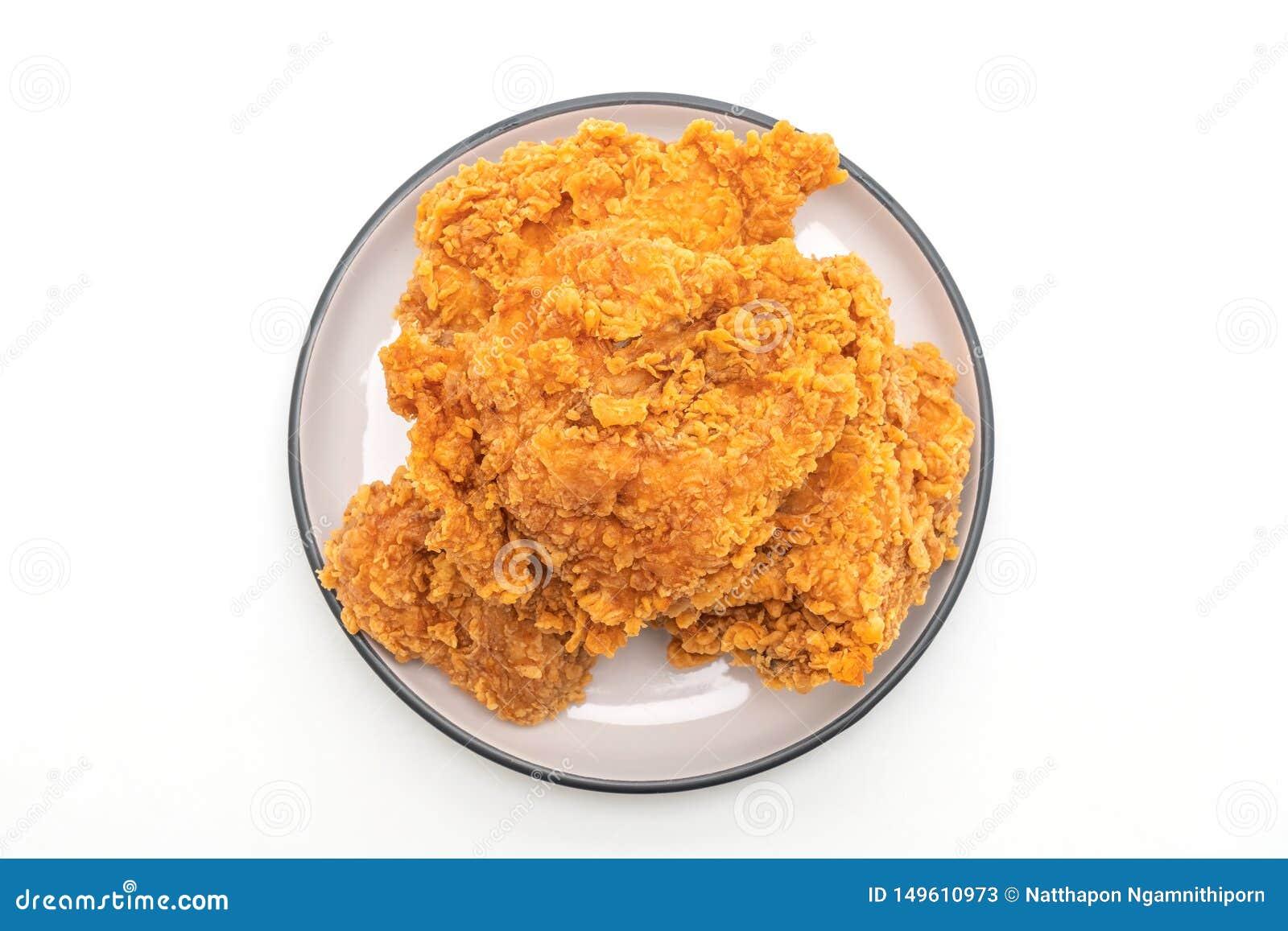 Pieczonego kurczaka posiłek szybkie żarcie i niezdrowy jedzenie ()