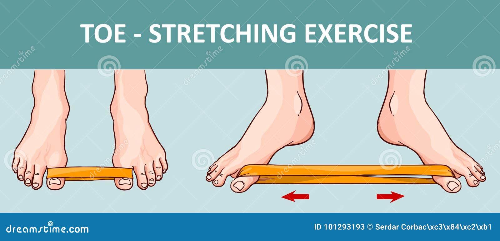 Pied du ` s de femme avec la bande élastique exécutant étirant l exercice
