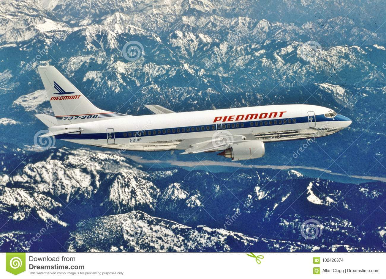 Piedmont Airlines Boeing B-737-301 On It Delivery Flight