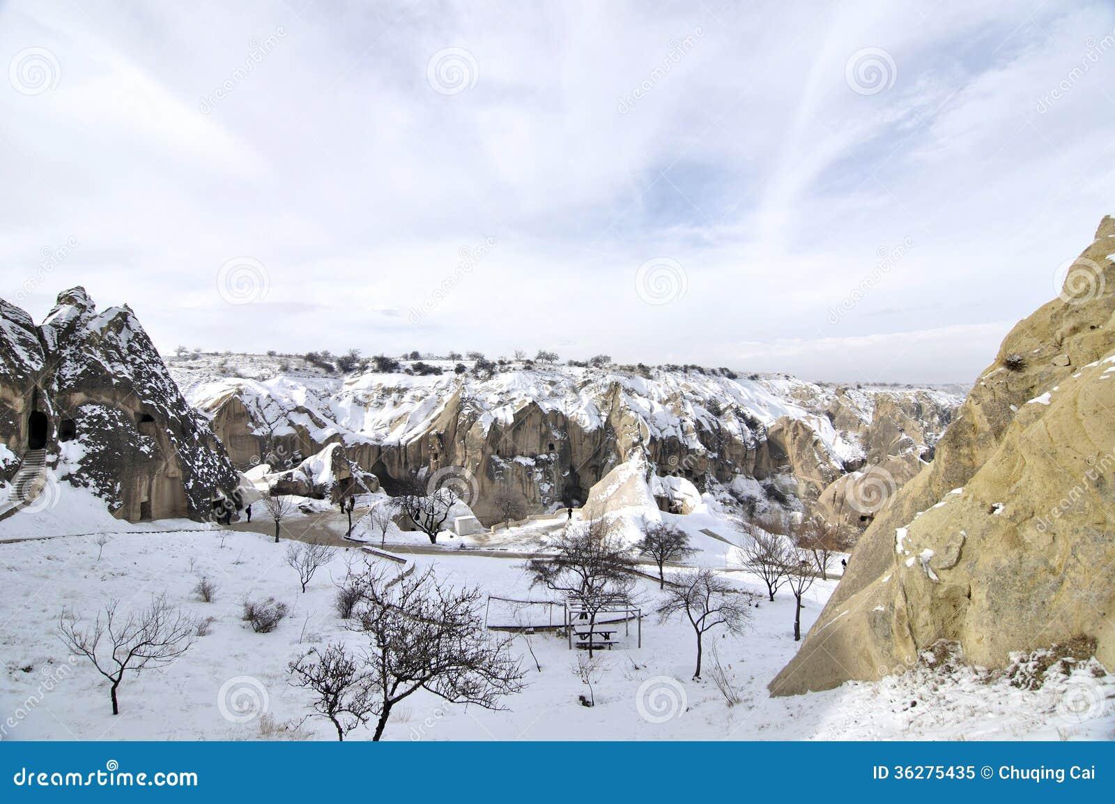 Piedra caliza imaginaria en Cappadocia