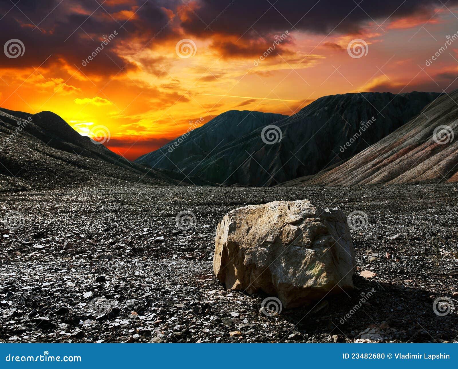 Piedra de la puesta del sol