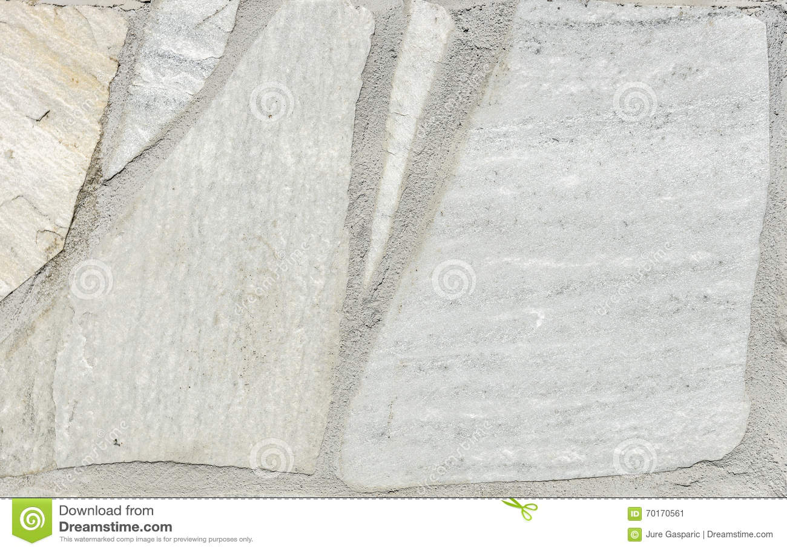 Piedra gris blanca natural del pavimento para el piso la for Pavimento piedra natural