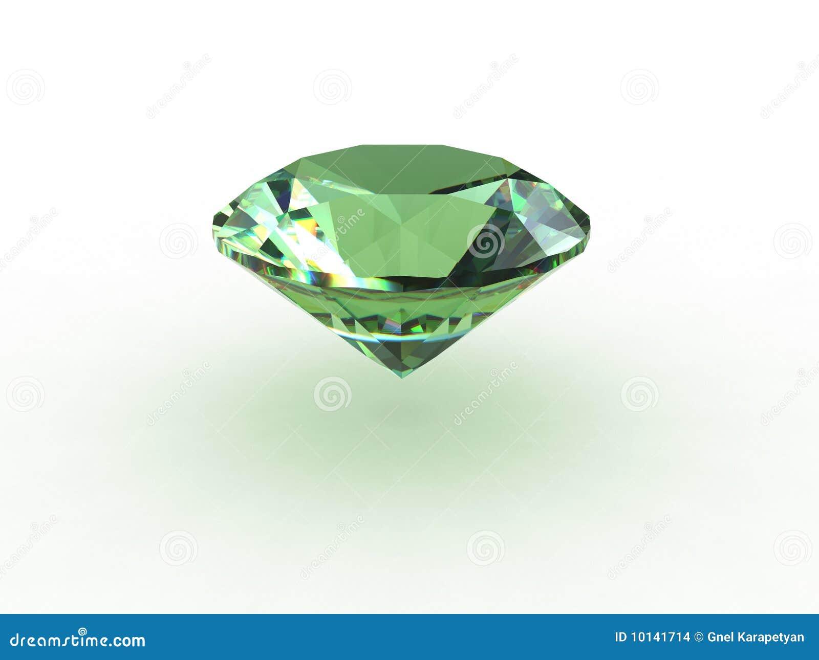 71dae38d1382 Piedra Preciosa Redonda Verde Del Topaz Stock de ilustración ...
