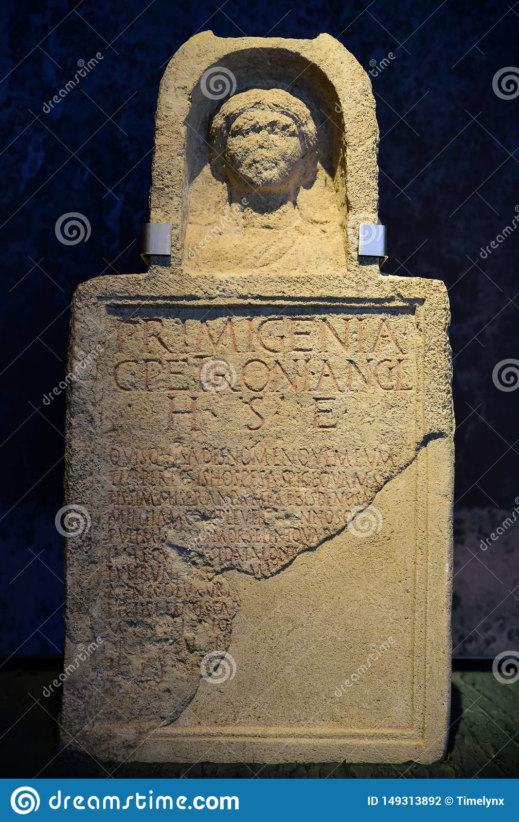 Piedra sepulcral romana en Carnuntum