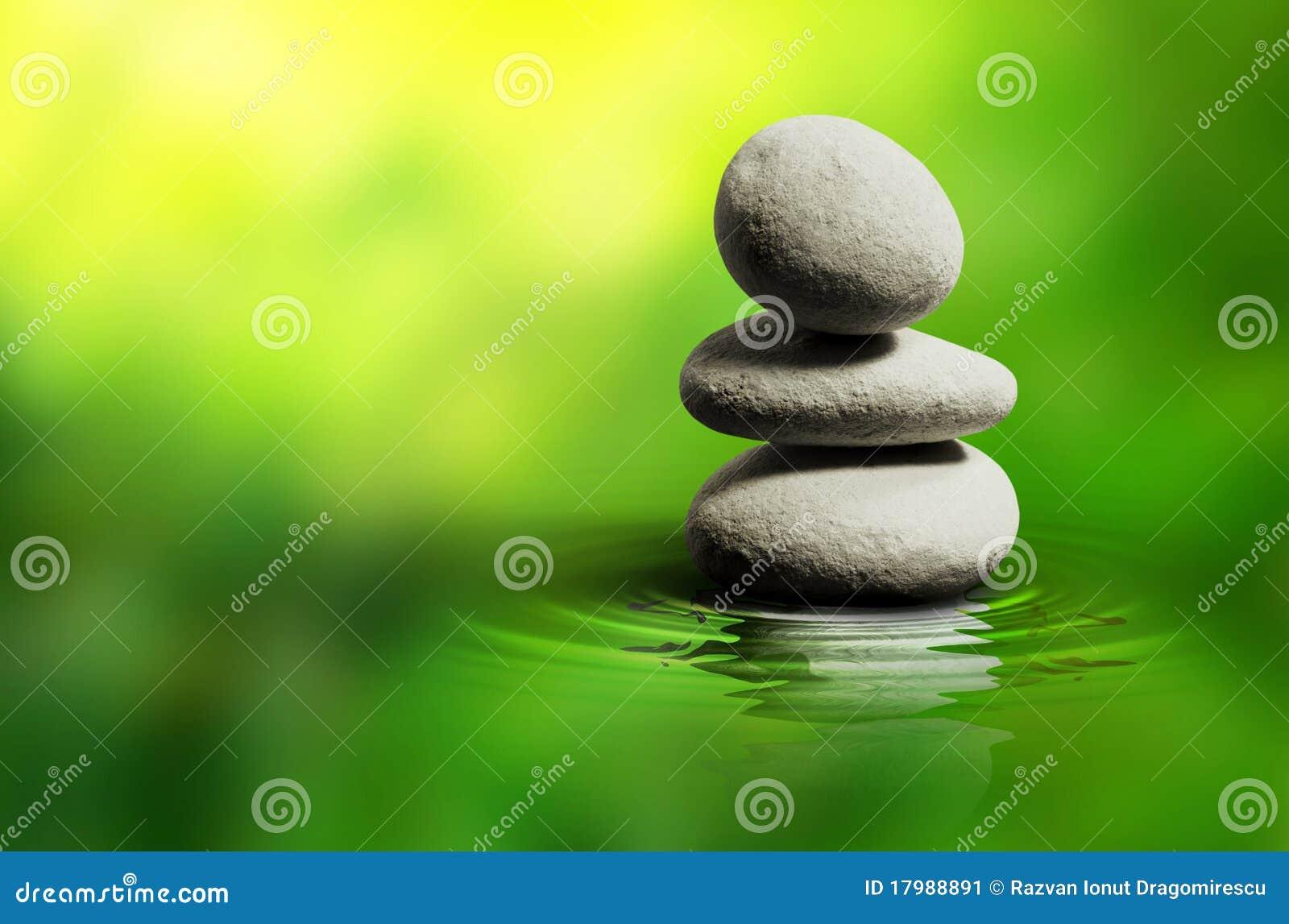 Piedras blancas del balneario del zen imagen de archivo for Fotos piedras zen