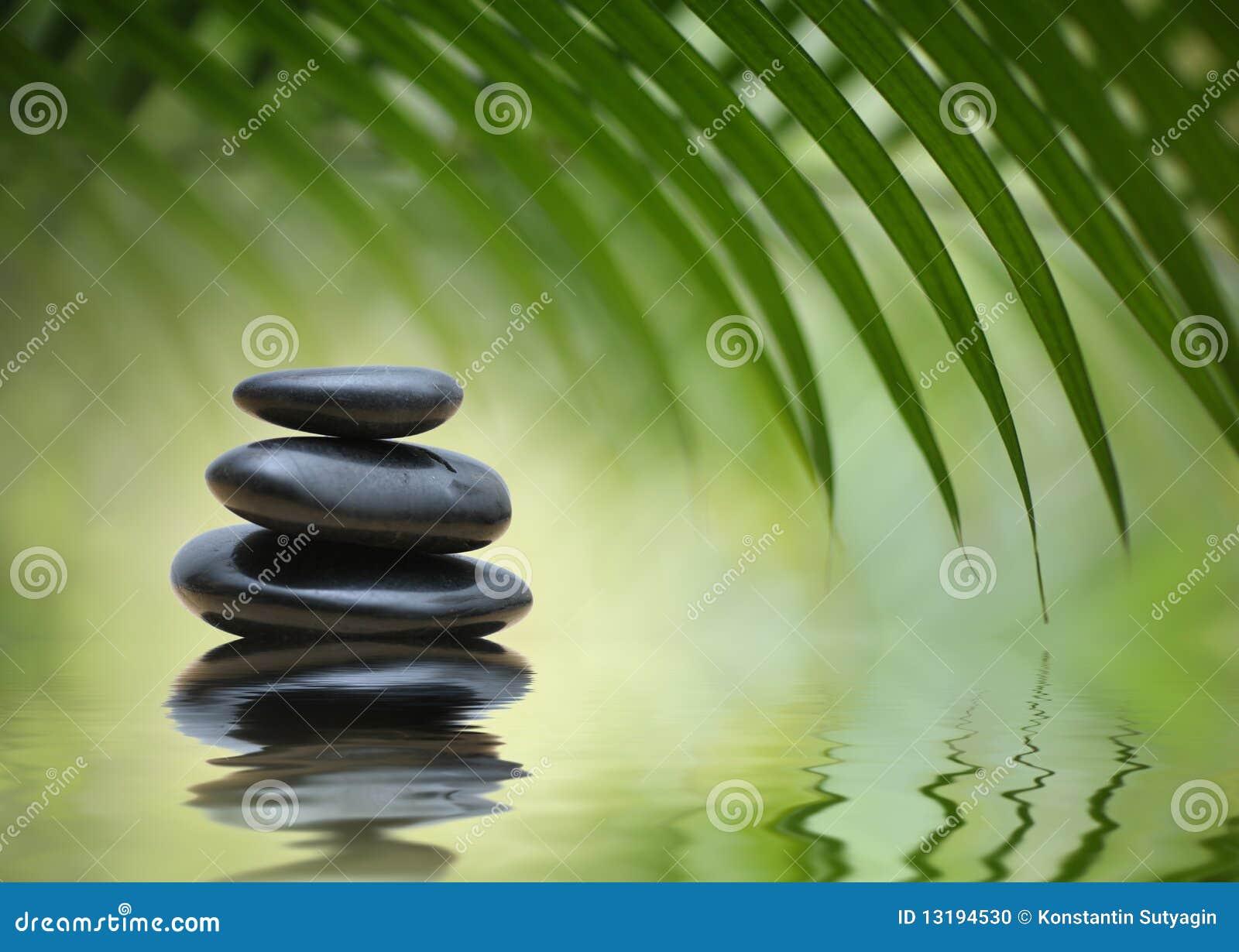 Piedras del zen de la meditaci n foto de archivo imagen for Fotos piedras zen