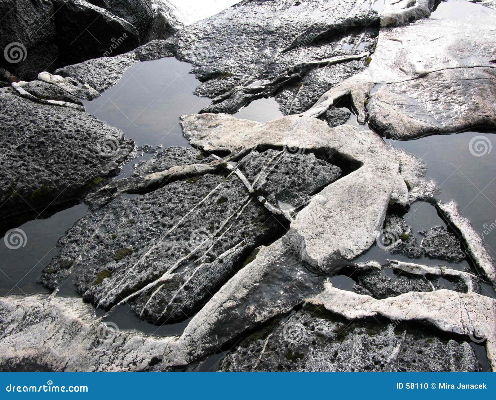Piedras en agua