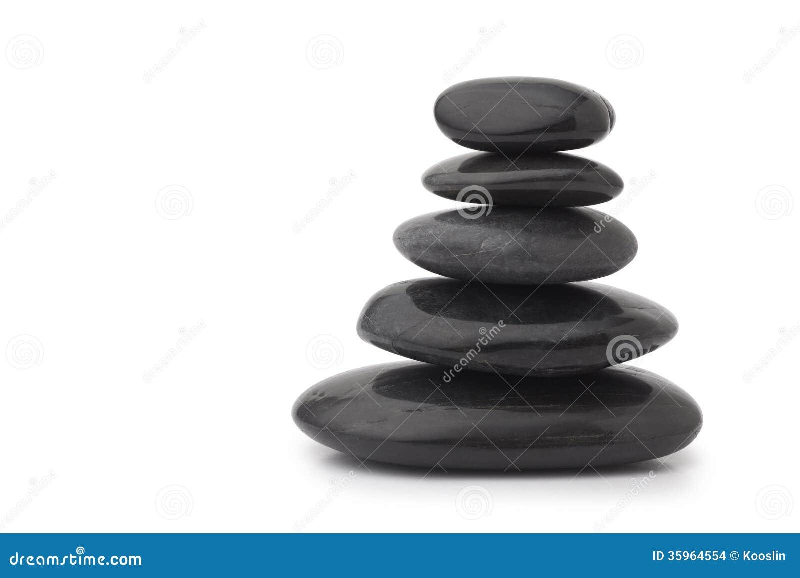 Piedras negras del masaje