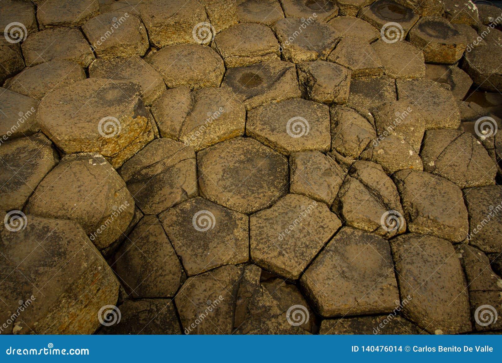 Piedras octogonales del terraplén gigante