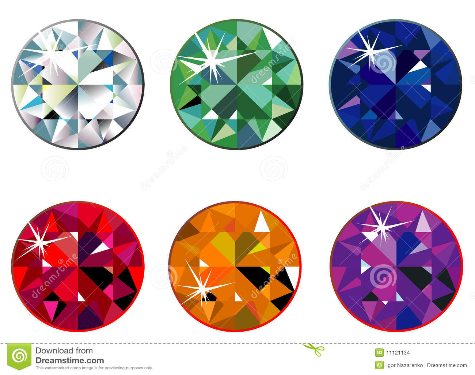 Piedras preciosas redondas con la chispa ilustraci n del for Imagenes de piletas redondas