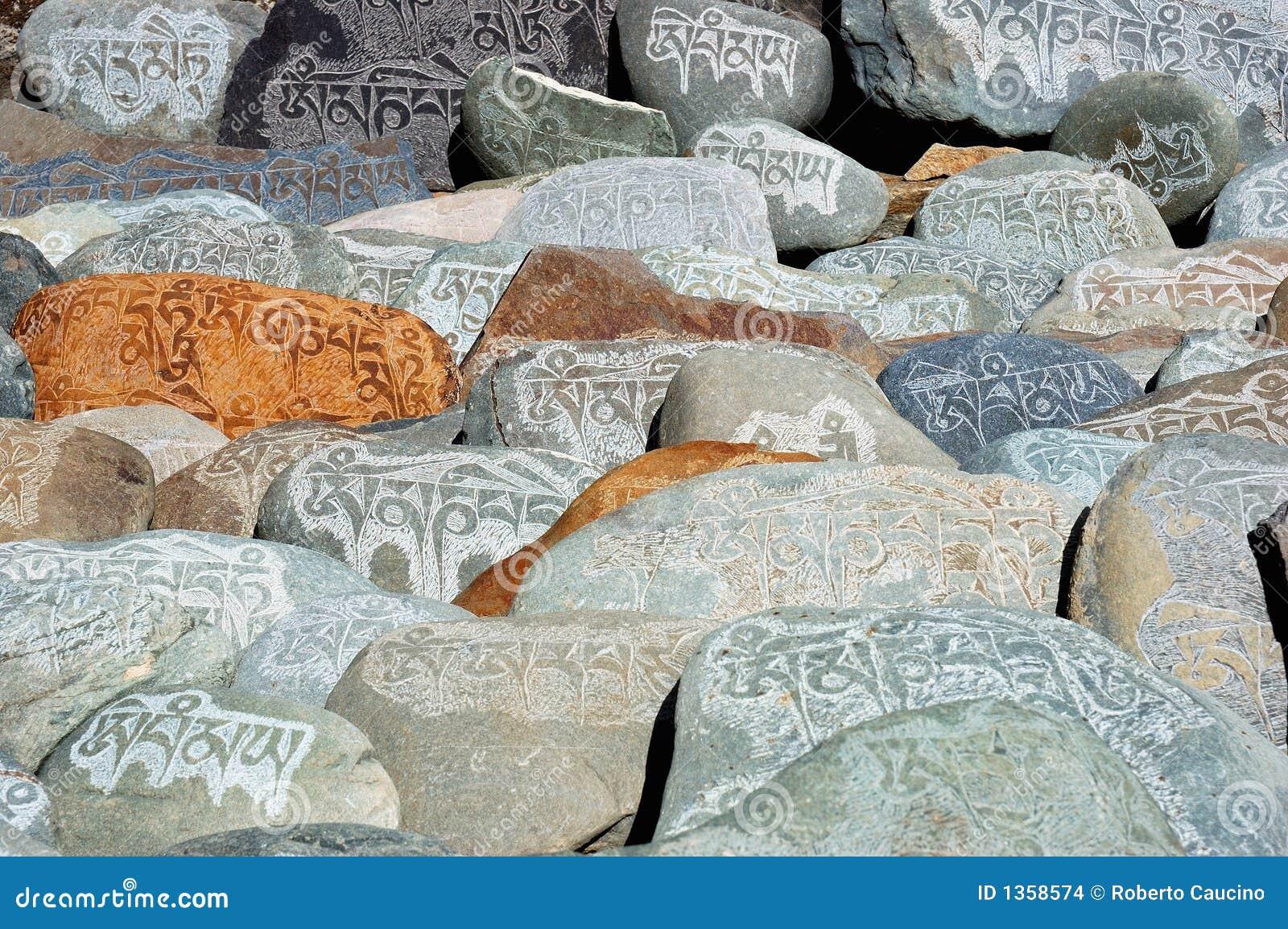 Piedras tibetanas del rezo