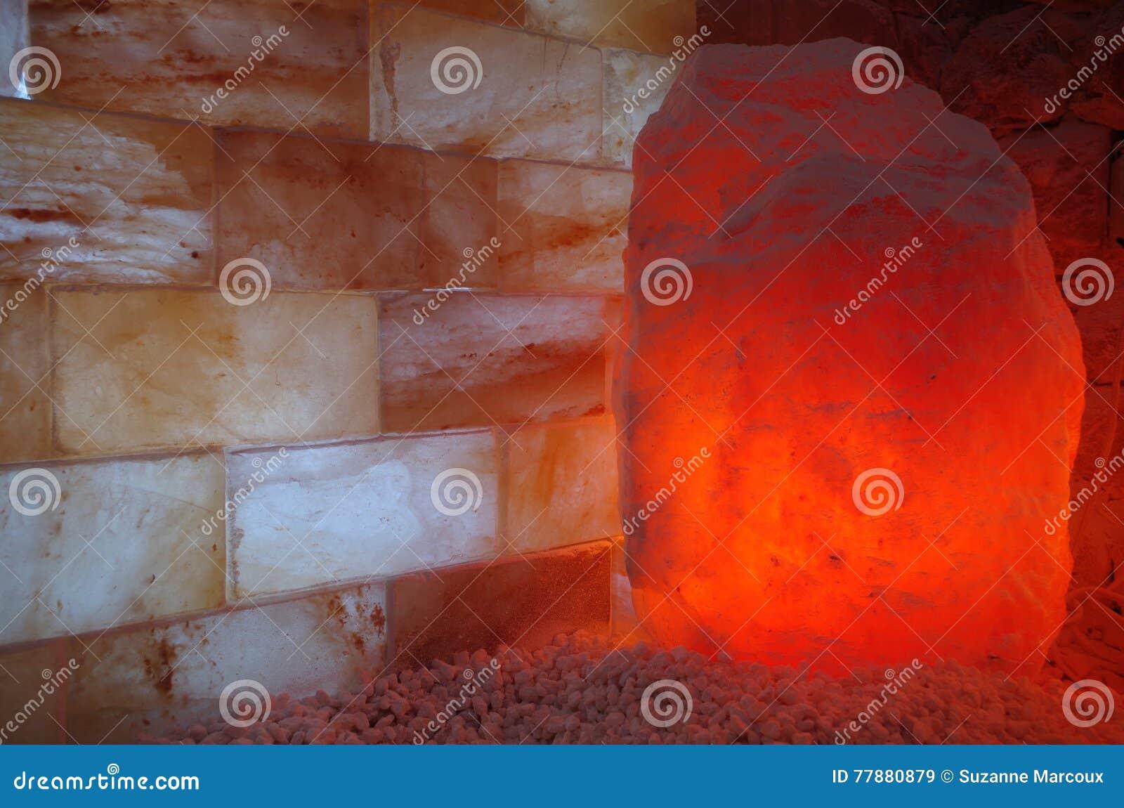 Piedras y ladrillos Himalayan de la sal