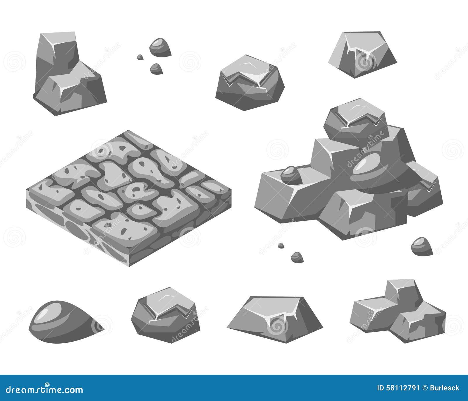 Piedras y rocas ilustraci n del vector imagen 58112791 for Rocas design