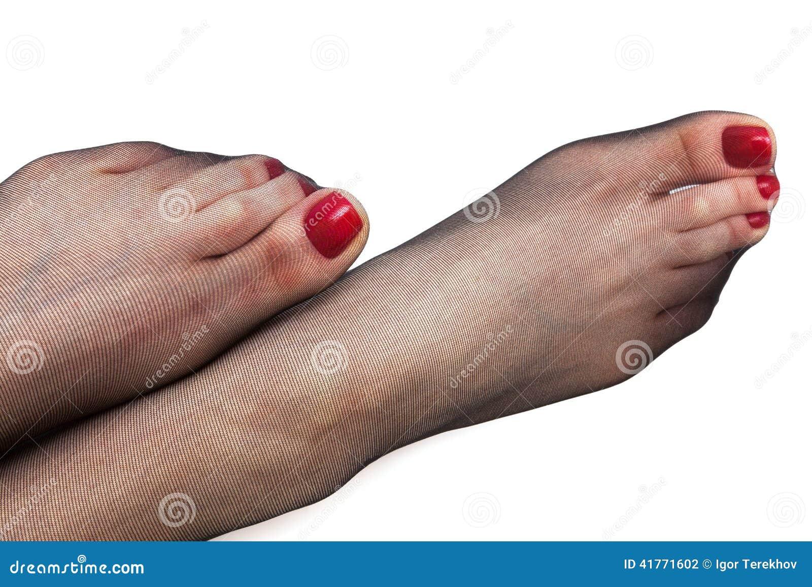 Fête des pieds en nylon