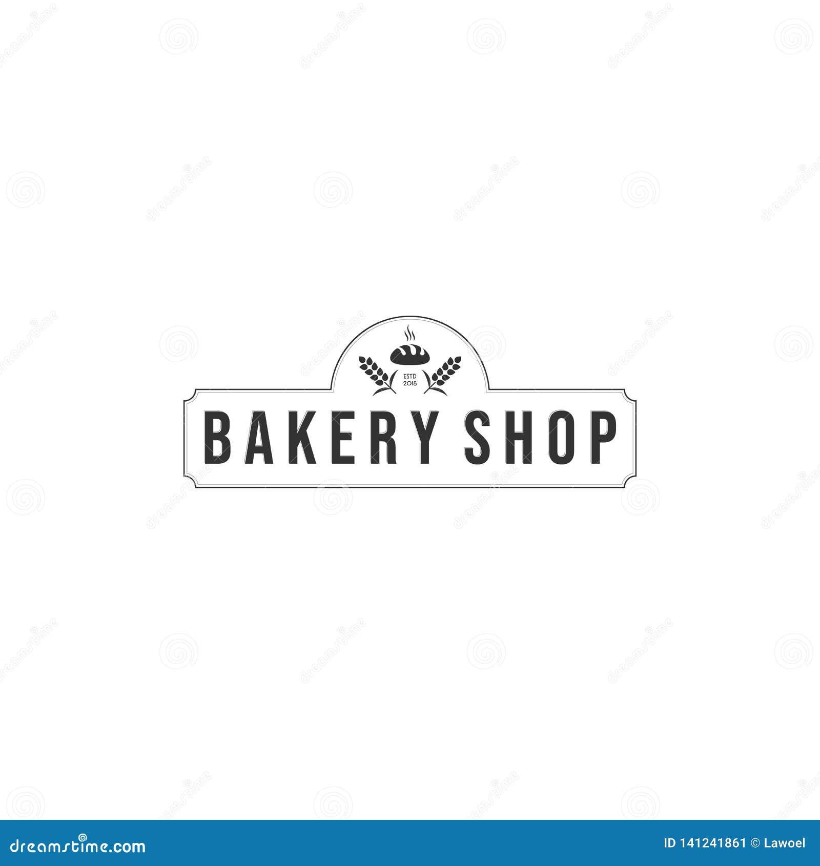 Piekarnia logo projekty, nowożytny logo typ