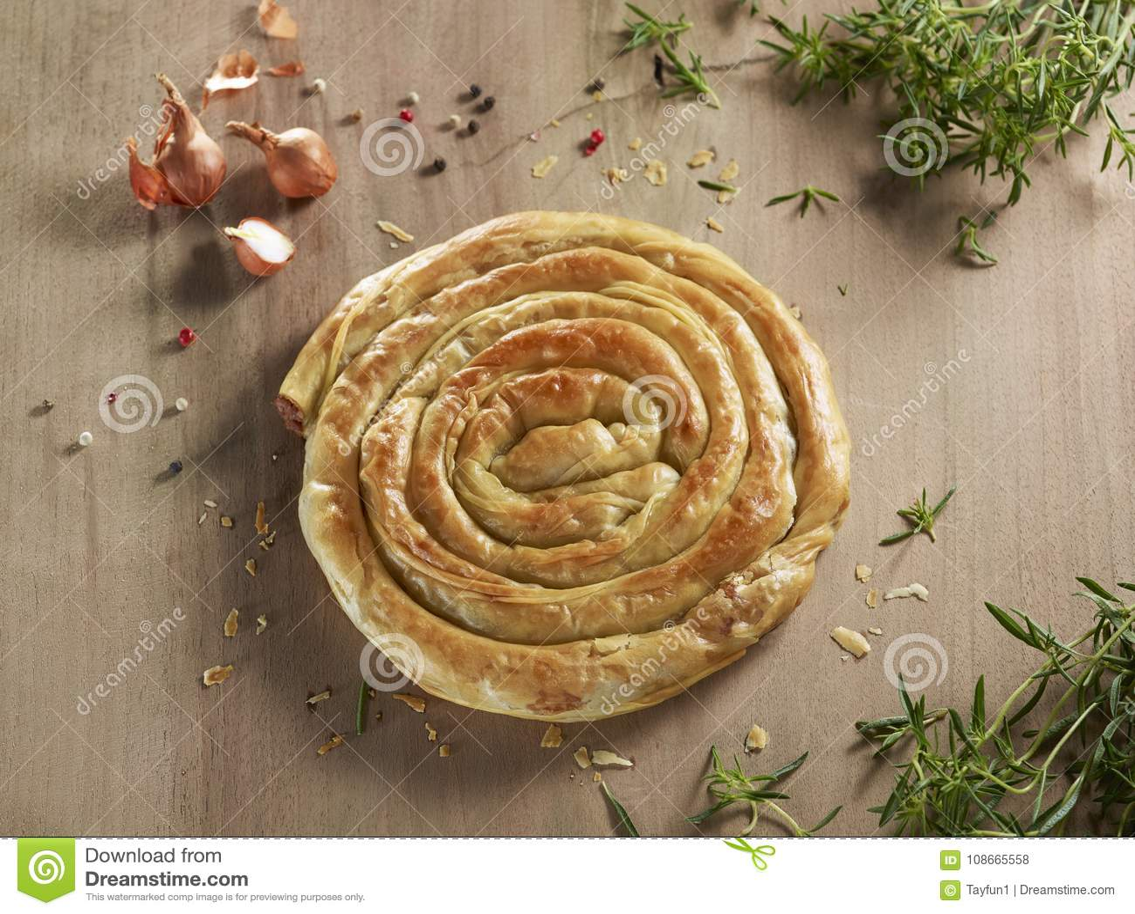 Piekarnia produktu nazwany borek, pasztecik