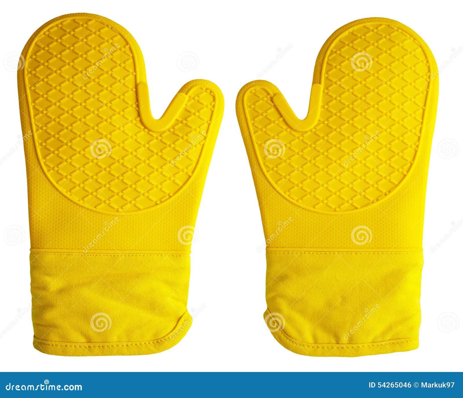 Piekarnik rękawiczki Żółte