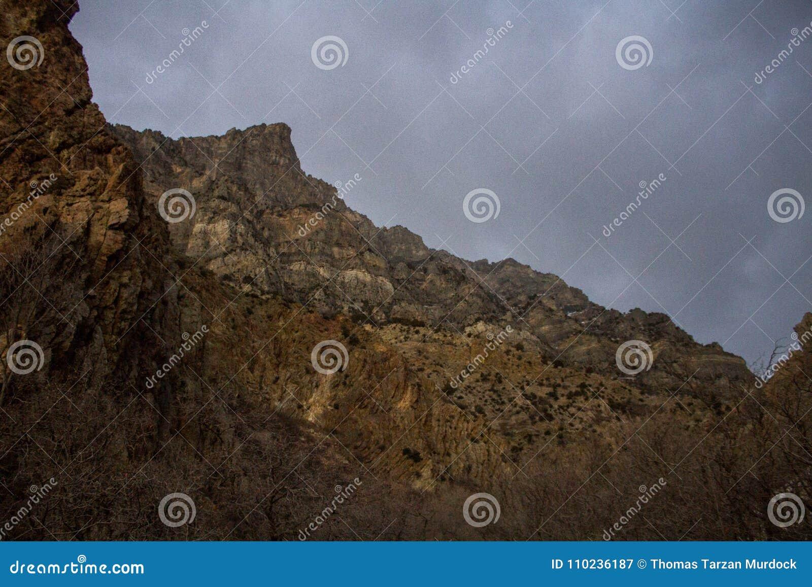 Pieken langs de sleep van de rotscanion in Provo, Utah