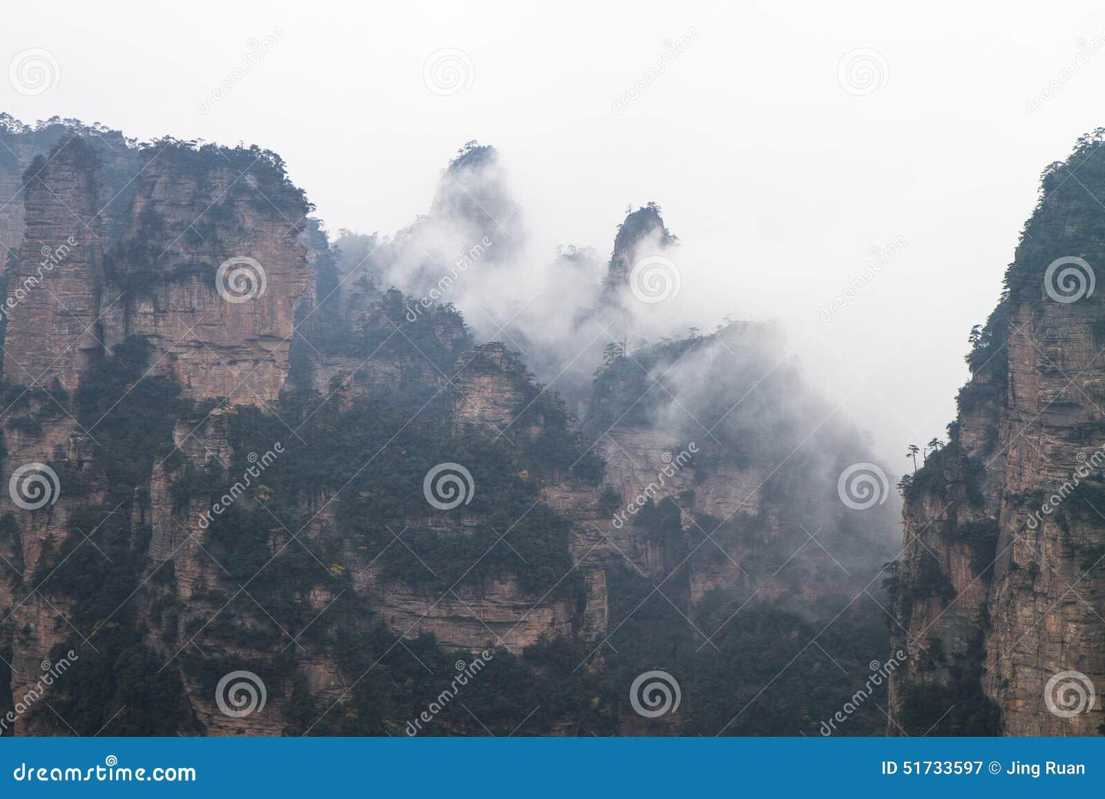 Pieken in Zhangjiajie