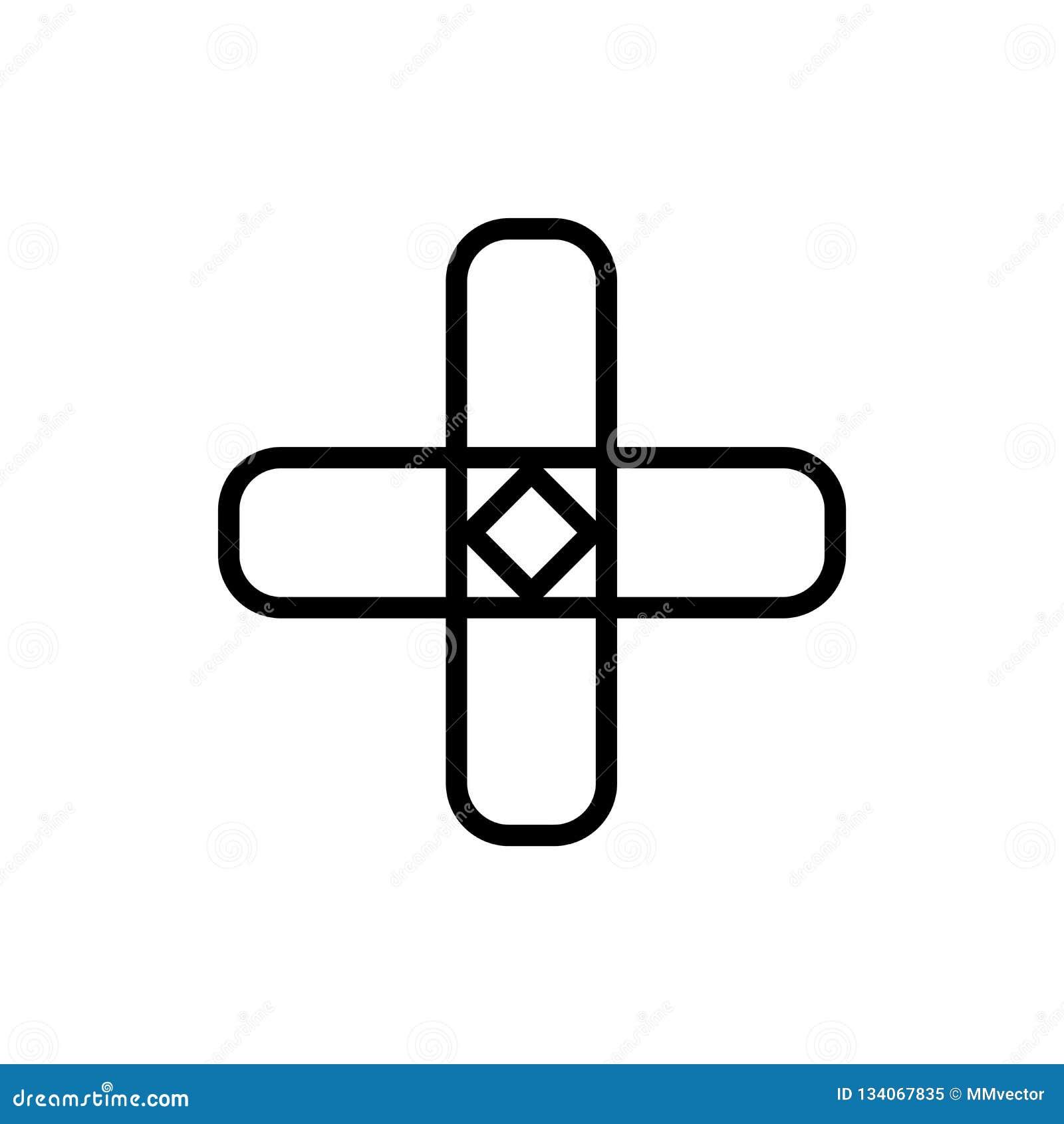Pielęgniarki ikony wektoru przecinający znak i symbol odizolowywający na białym tle, pielęgniarka logo przecinający pojęcie