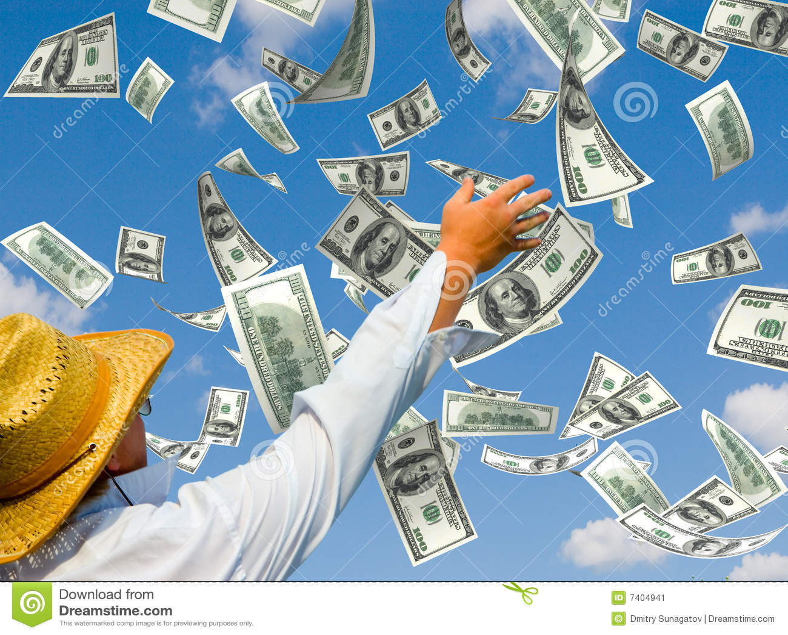 Pieniądze deszcz