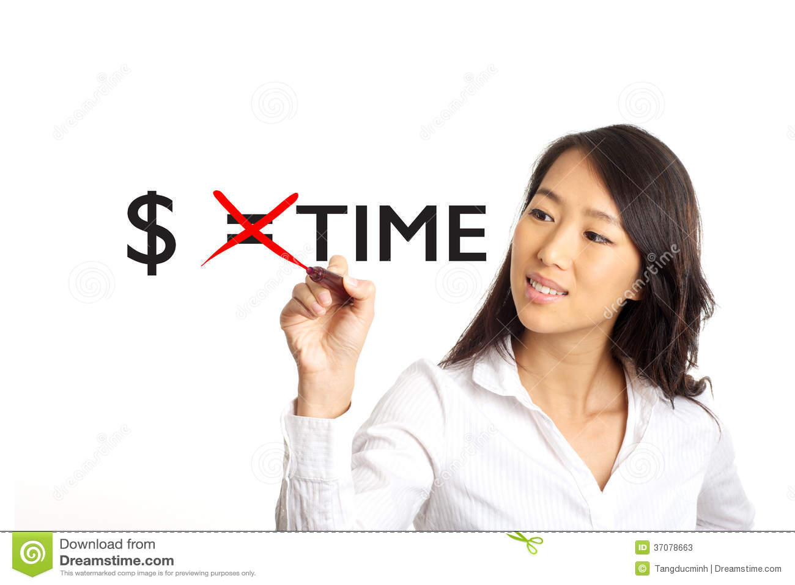Download Pieniądze Dorówna Czasu Pojęcie Obraz Stock - Obraz złożonej z piękny, uśmiech: 37078663