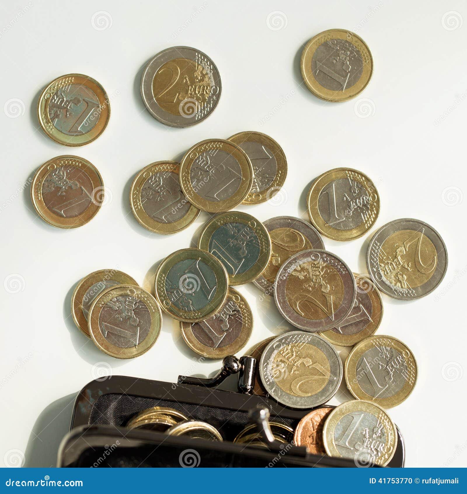 Pieniądze, finanse monety euro