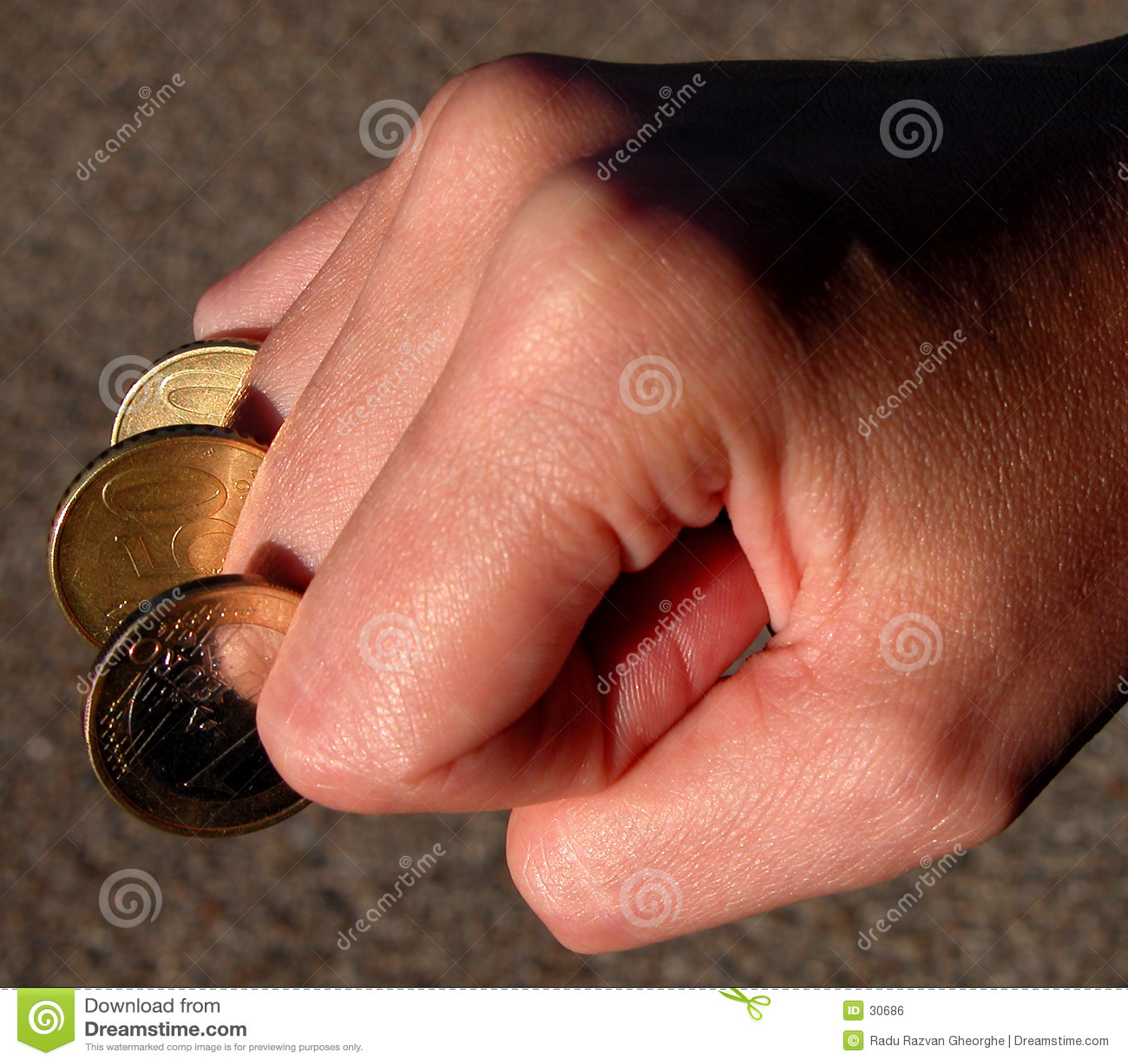 Pieniądze fingercoins moc