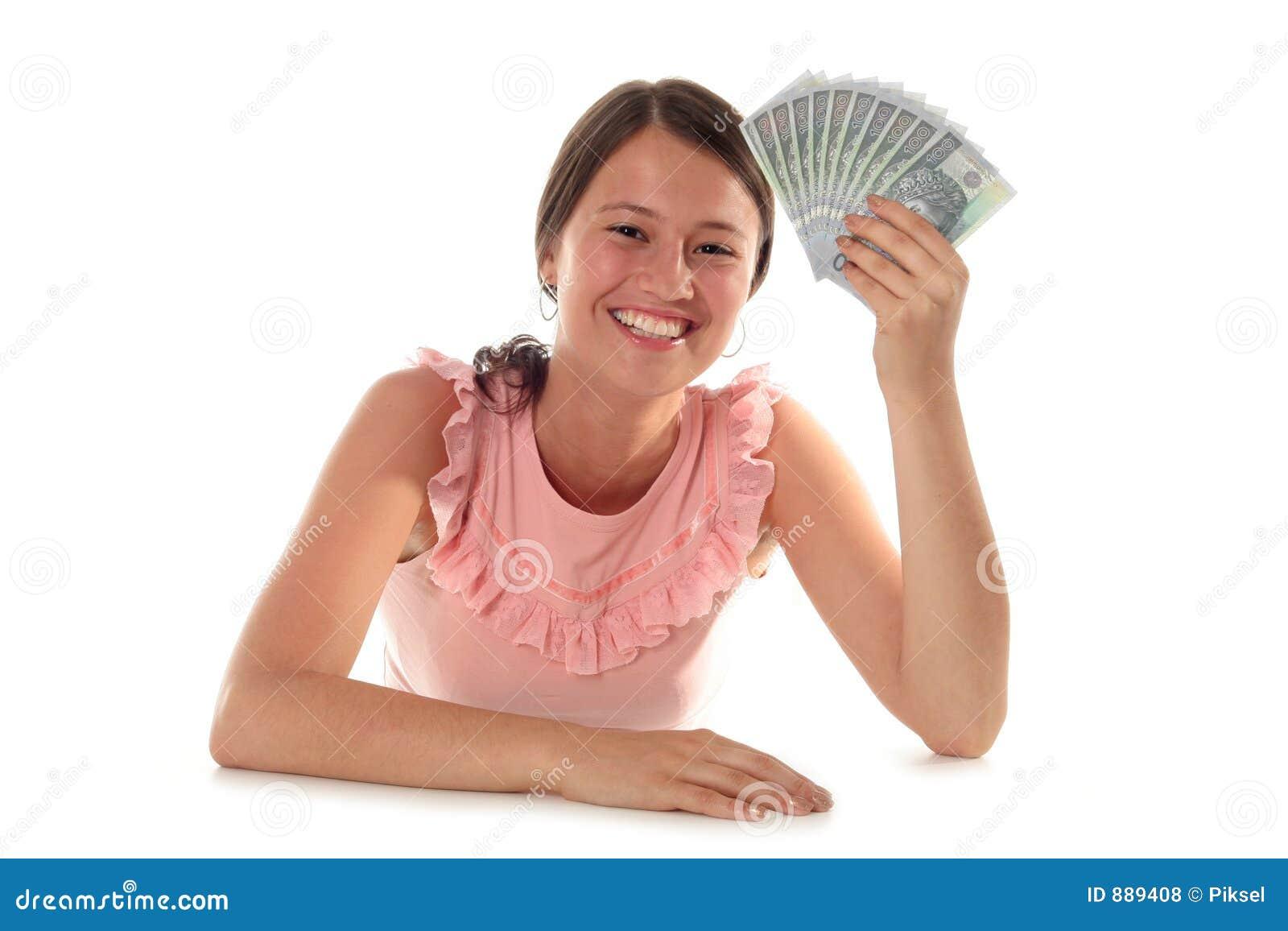 Pieniądze gospodarstwa kobieta