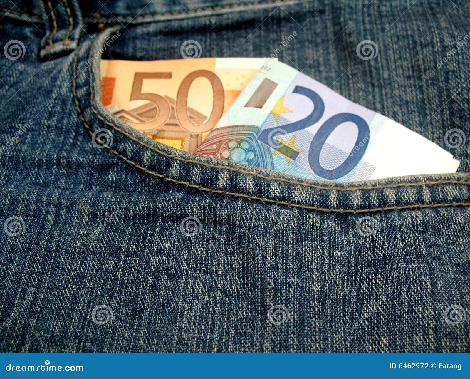 Pieniądze przedniej kieszeni