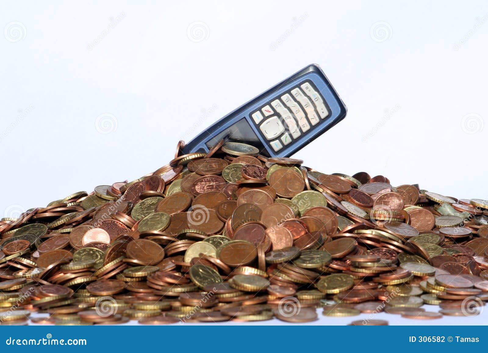 Pieniądze ruchomego telefon