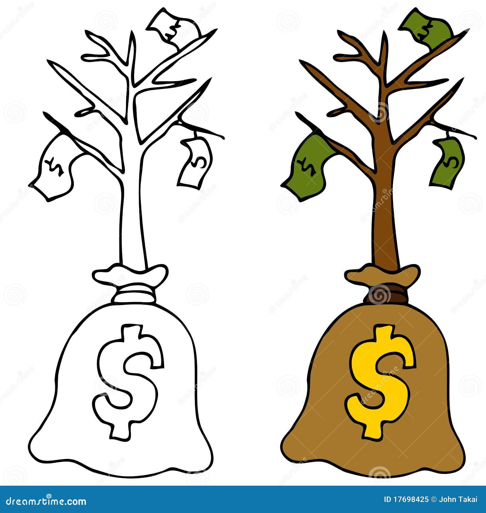 Pieniądze sapling drzewo