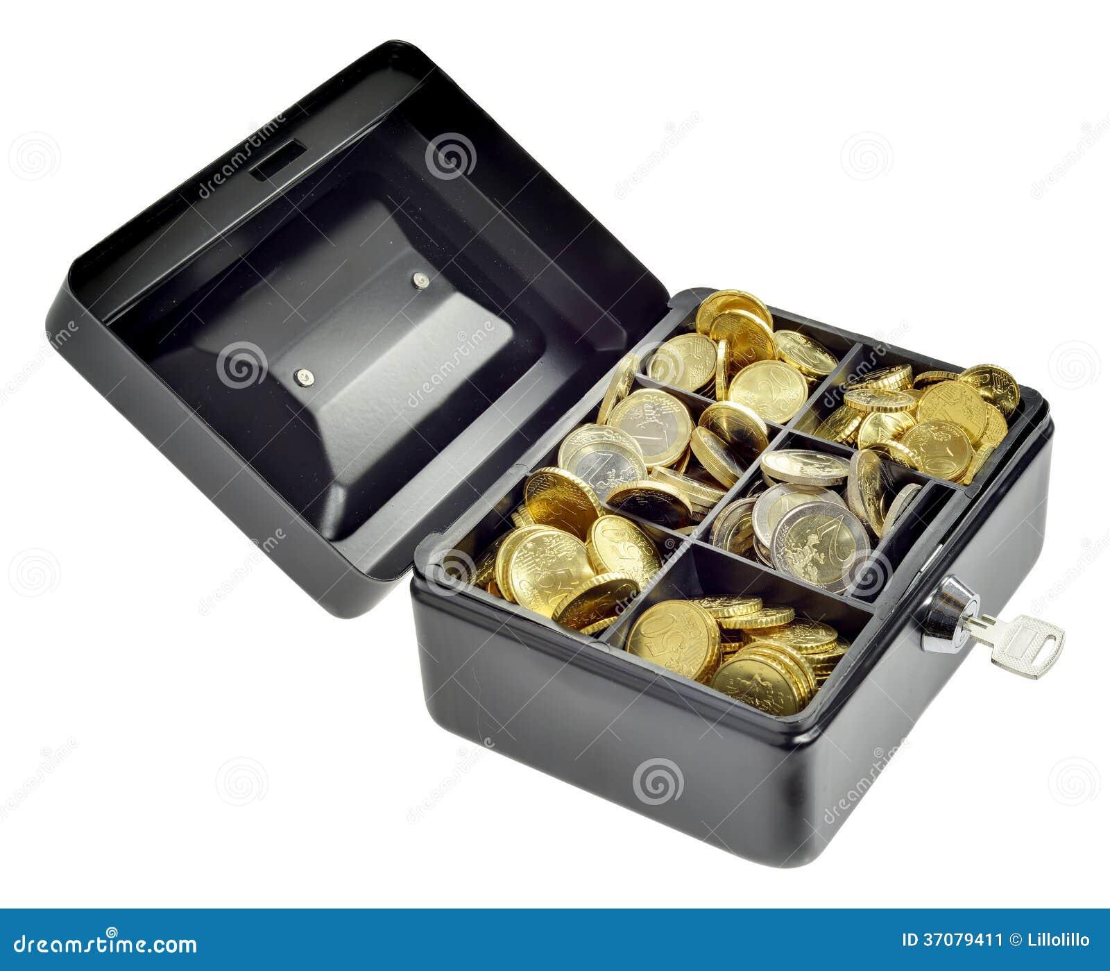 Download Pieniądze W Gotówki Pudełku Obraz Stock - Obraz złożonej z skrytka, biznes: 37079411