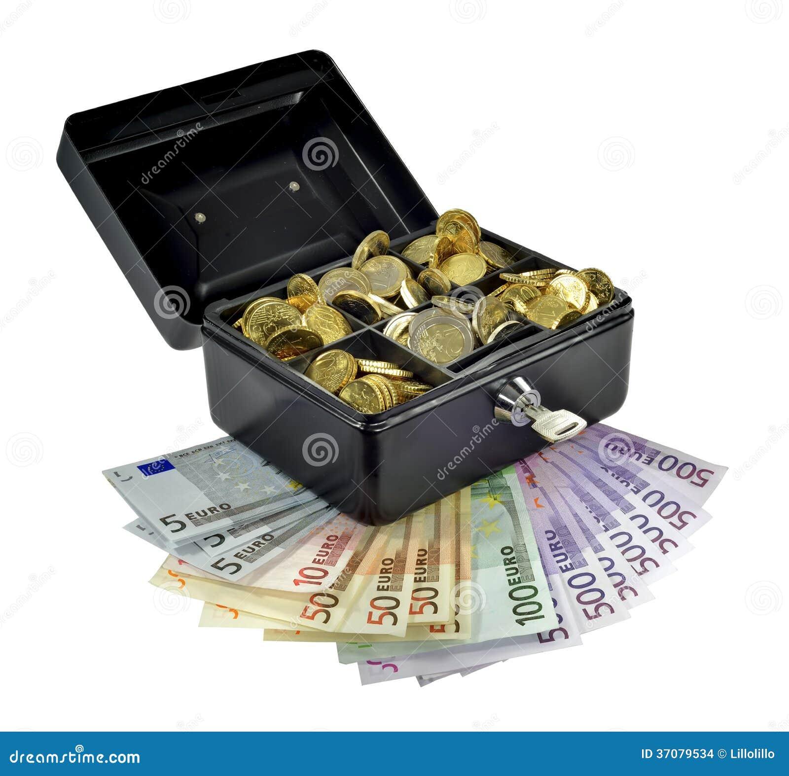 Download Pieniądze W I Gotówkowy Pudełko Out Zdjęcie Stock - Obraz złożonej z finanse, bezpieczeństwo: 37079534