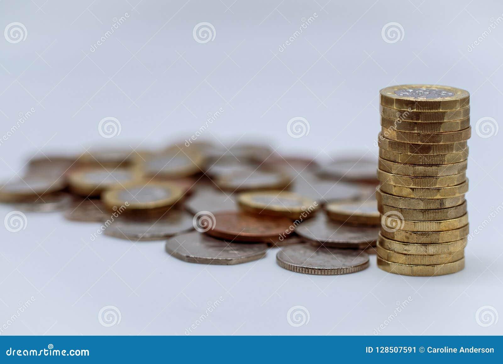 Pieniądze wybór Brytyjskie monety