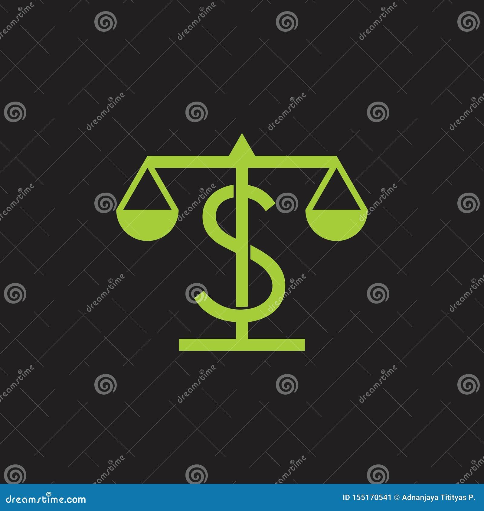 Pieniądze wzrosta skali projekta symbolu balansowy wektor