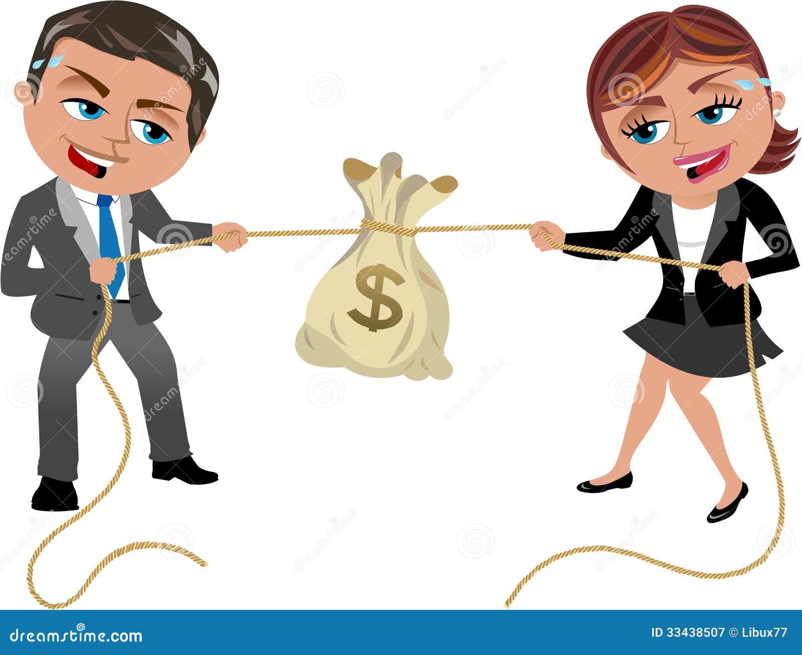 Pieniądze zażarta rywalizacja