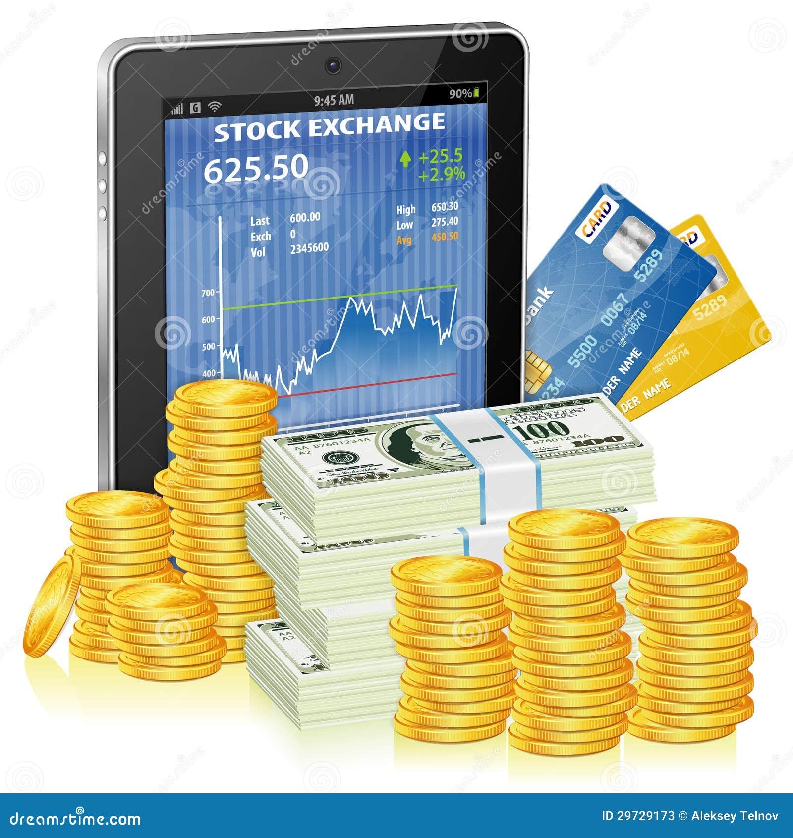 Pieniężny pojęcie - Robi pieniądze na internecie