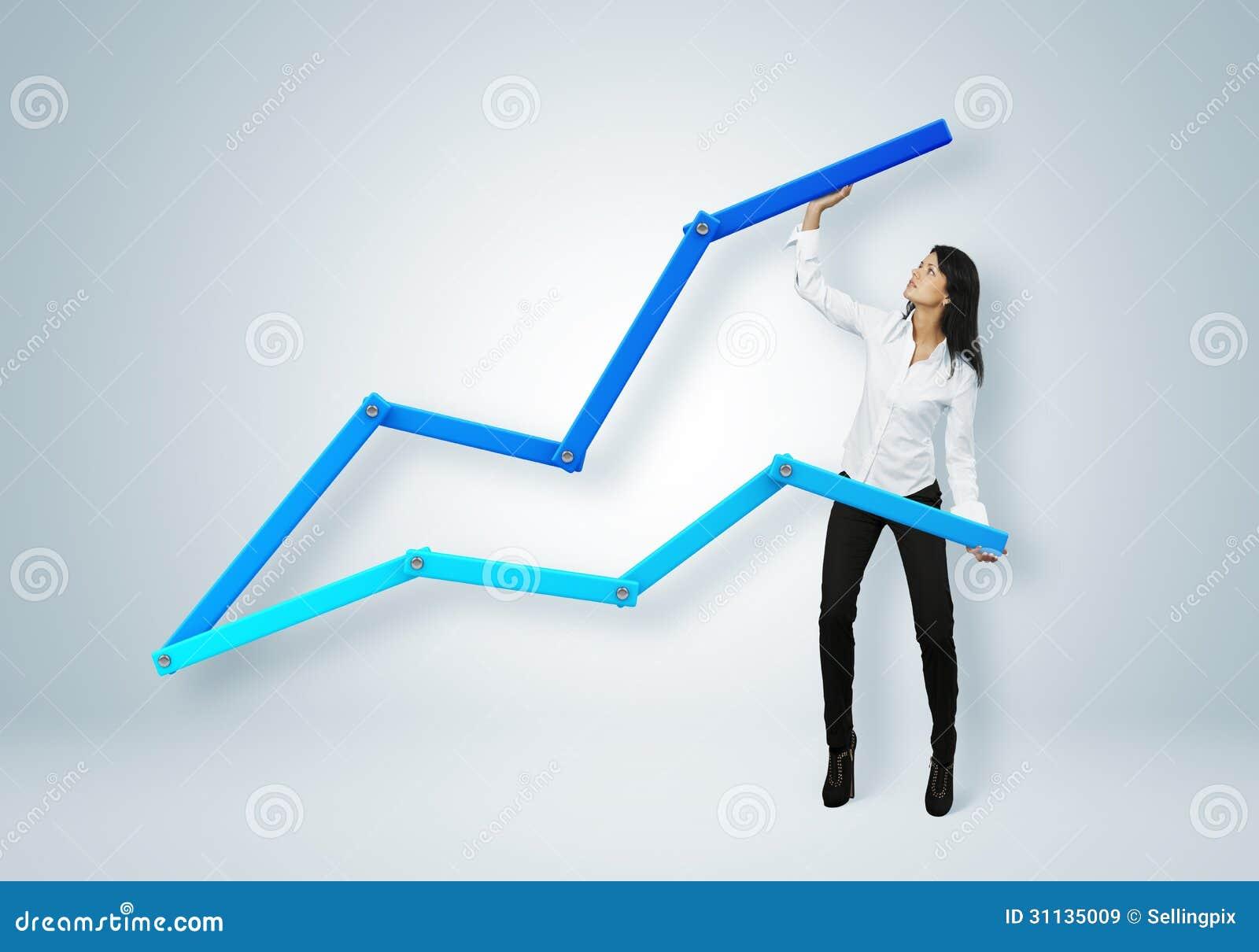Pieniężny raport & statystyki. Biznesowego sukcesu pojęcie.