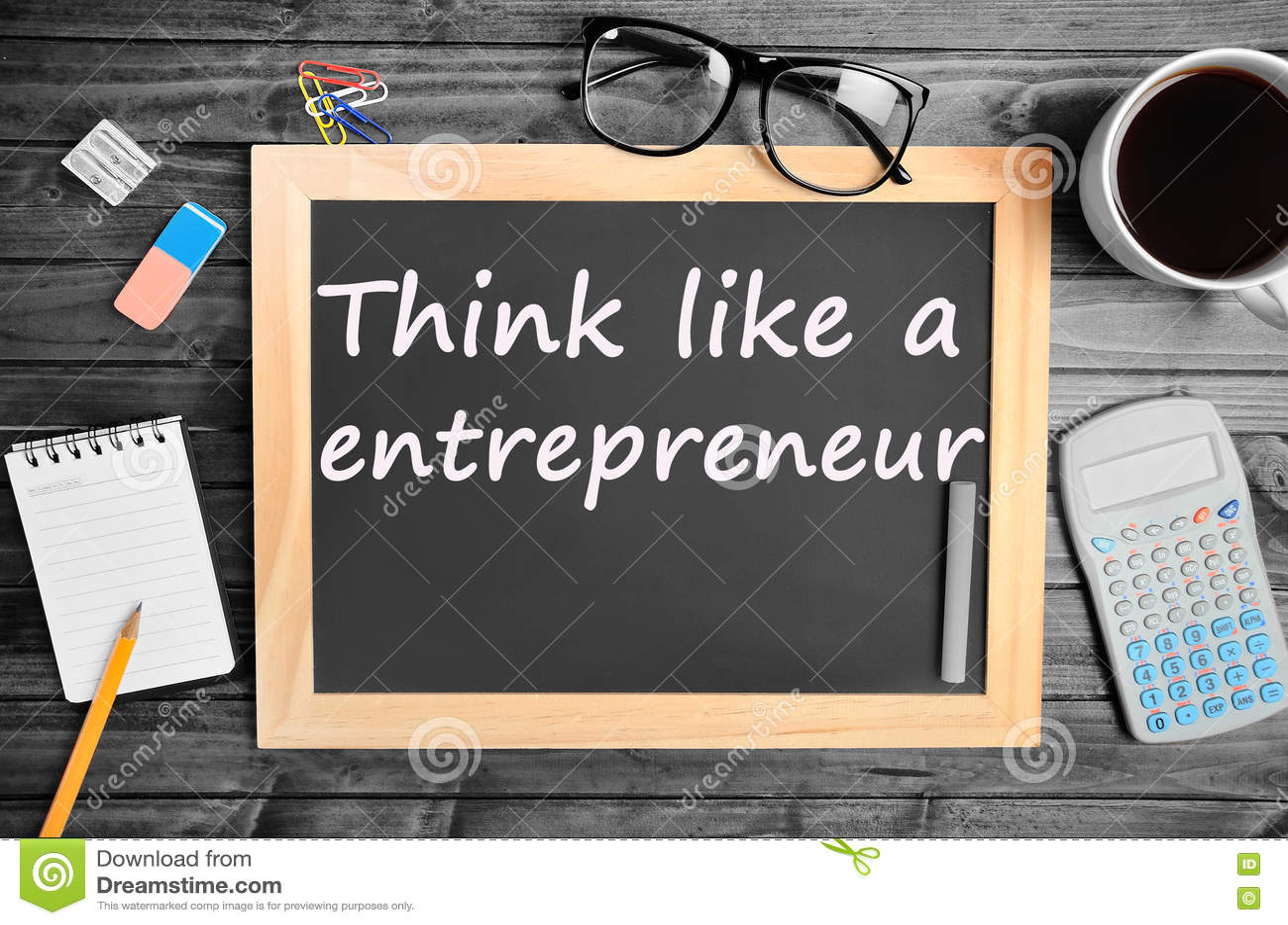 Piense como palabras de un empresario