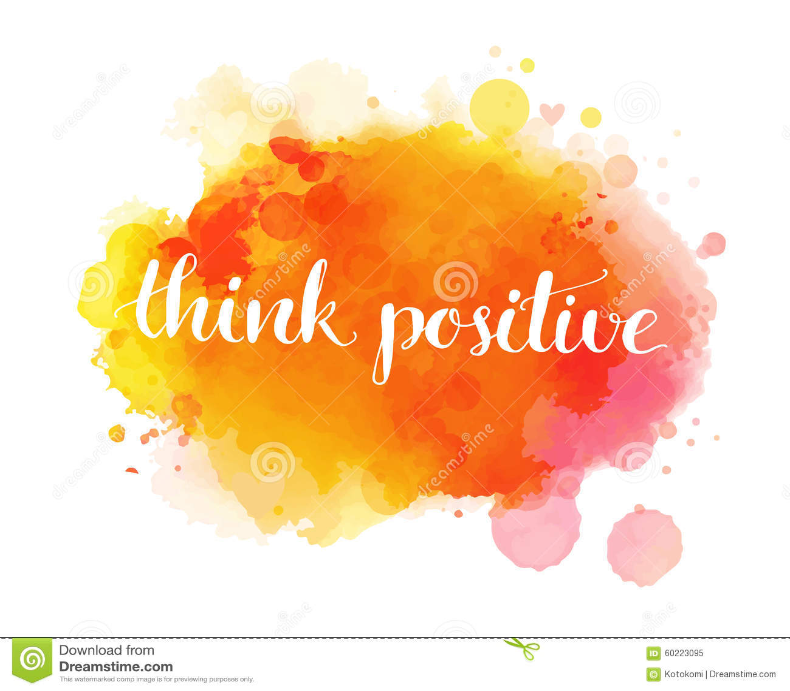 Piense el positivo Cita inspirada, artística
