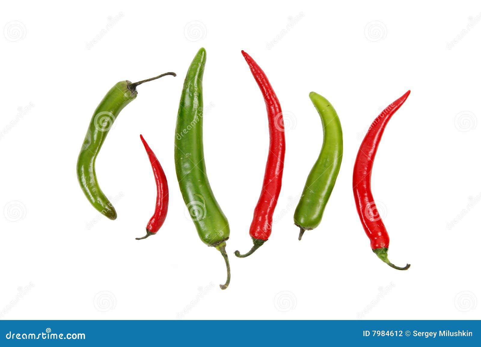 Pieprz świeża zielona gorąca ładna czerwień bardzo