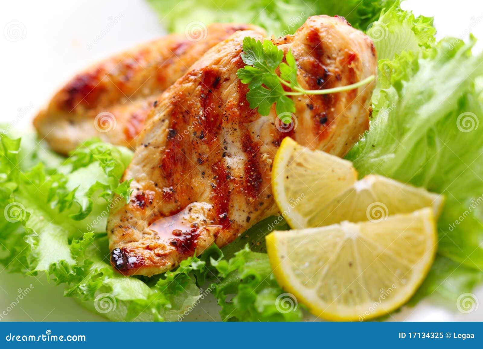 Pierś kurczak piec na grillu